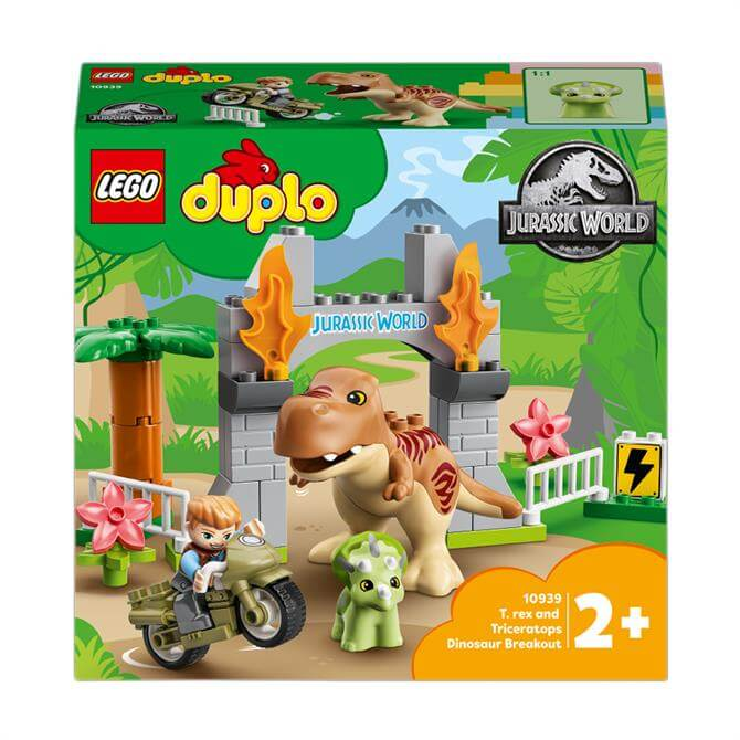 Lego Duplo T. rex and Triceratops Dinosaur Toy 10939