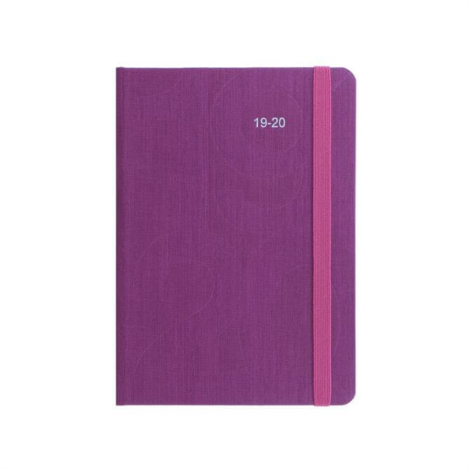 Letts Pink Block A6 Day to Page with Appointments Diary 2019-20