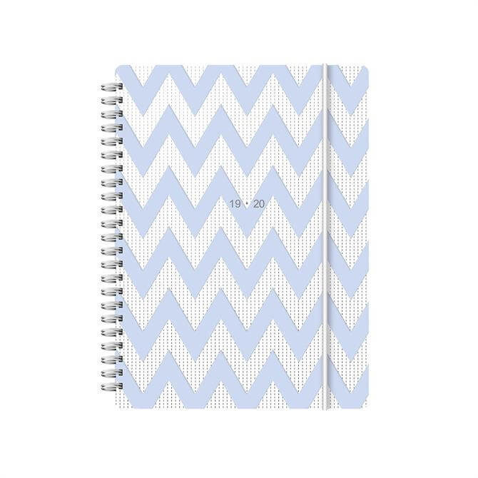 Letts Chevron A5 Week To View Diary 2019-2020 - Blue