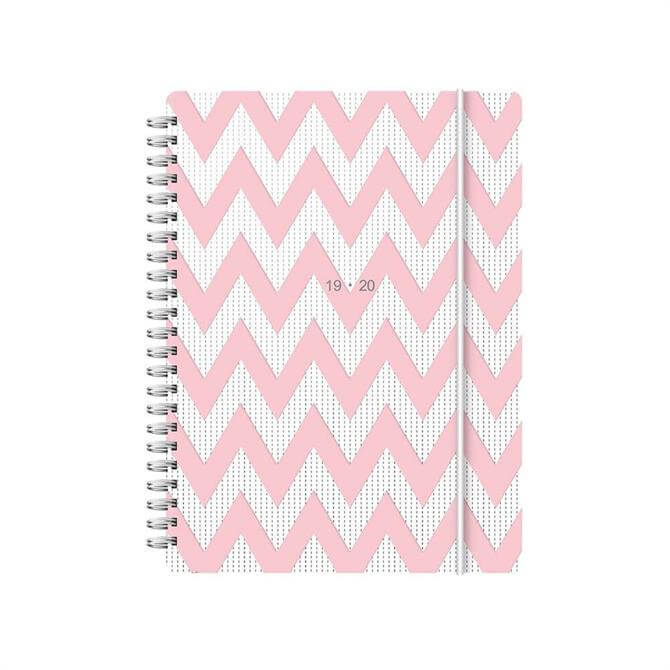 Letts Chevron A5 Week To View Diary 2019-2020 – Pink