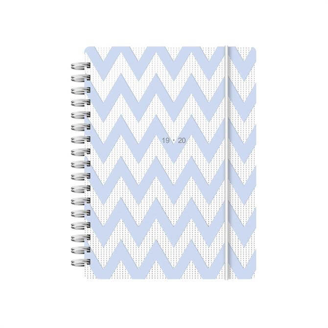 Letts Chevron A6 Week To View Diary 2019-2020 – Blue