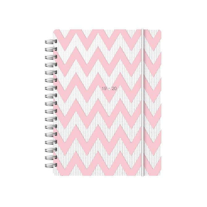 Letts Chevron A6 Week To View Diary 2019-2020 – Pink