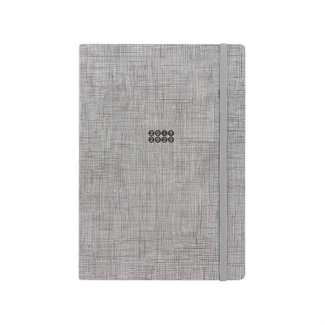 Letts Edge A5 Week to View with Notes 18 Month Diary 2019-20 – Grey Grid