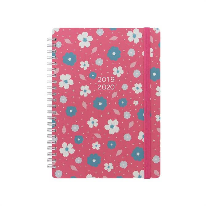 Letts Floral A5 Week To View Diary 2019-20 - Coral