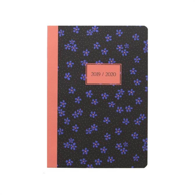 Letts Floret A6 Day to Page with Appointments Diary 2019-20 - Black