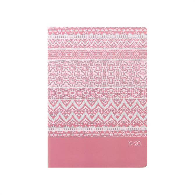 Letts Ikat A5 Day To Page with Appointments Diary 2019-2020 – Coral