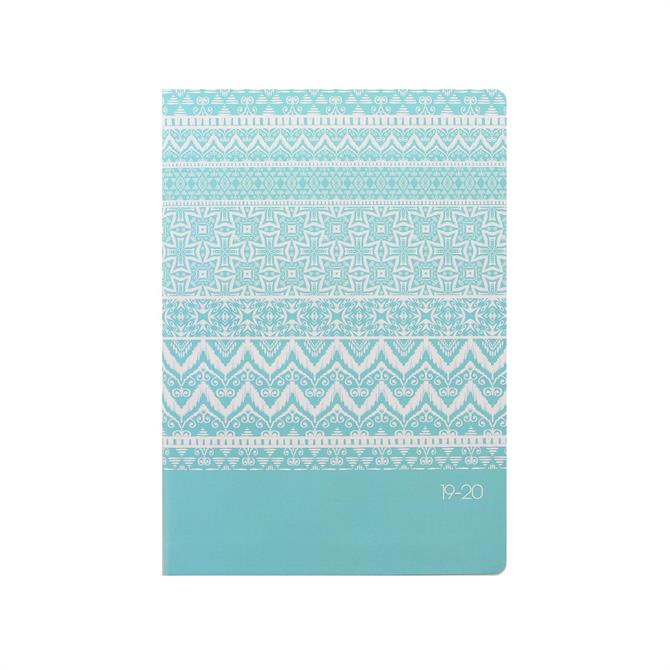 Letts Ikat A5 Day To Page with Appointments Diary 2019-2020 – Duck Egg