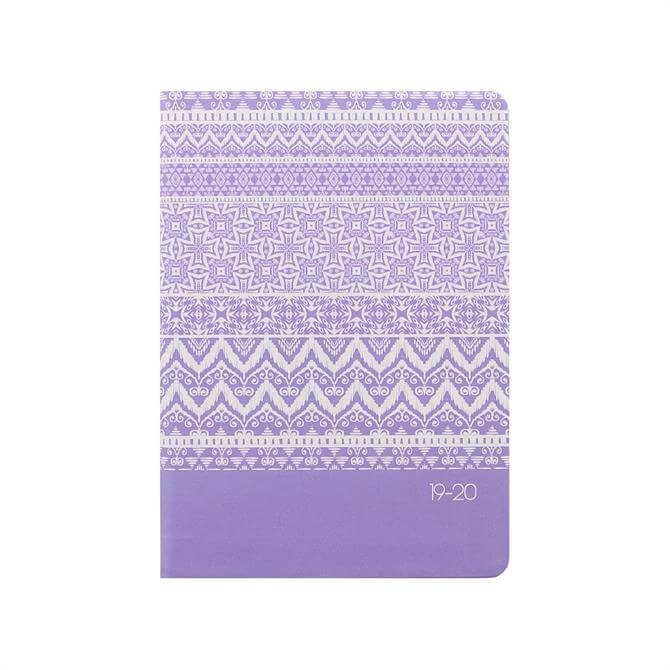 Letts Ikat A6 Week To View Diary 2019-2020 – Lilac