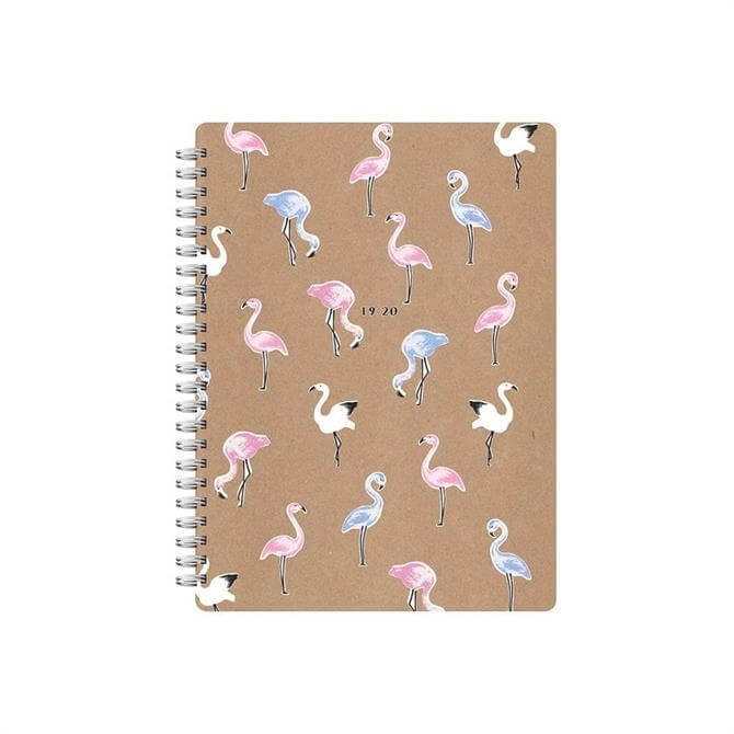 Letts Kraft Pastel A5 Week To View Flamingo Diary 2019-20