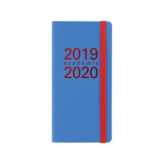 Letts Memo Slim Week To View Diary 2019-2020 – Aqua/Red