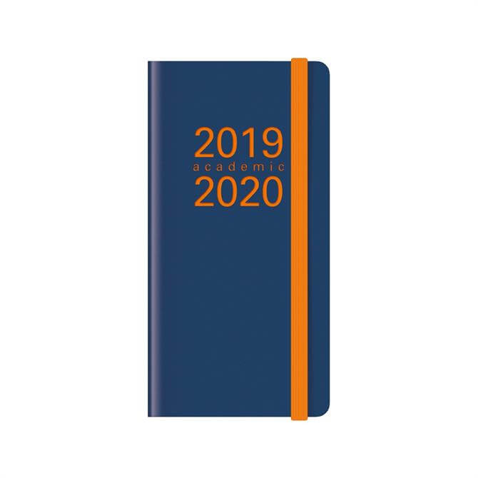 Letts Memo Slim Week To View Diary 2019-2020 – Navy/Orange