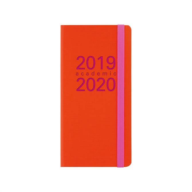 Letts Memo Slim Week To View Diary 2019-2020 – Orange/Fuchsia