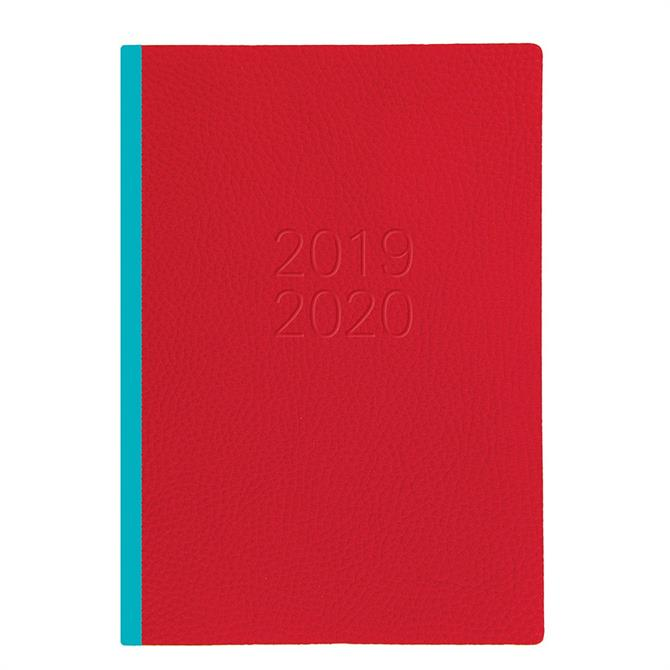 Letts Two Tone A5 Week to View Diary 2019-2020 – Red/Blue