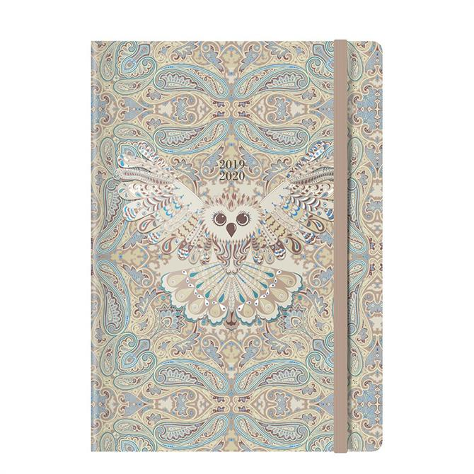 Letts Paisley Owl A5 Week to View Diary 2019-2020