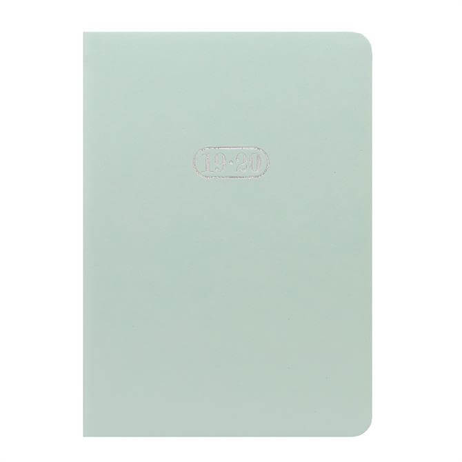 Letts Pastel Duck Egg A6 Day to Page Diary with Appointments 2019-2020