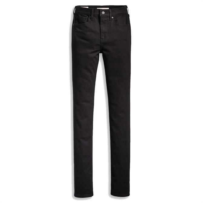Levi's 724 High-Waisted Straight Jeans, Black Sheep