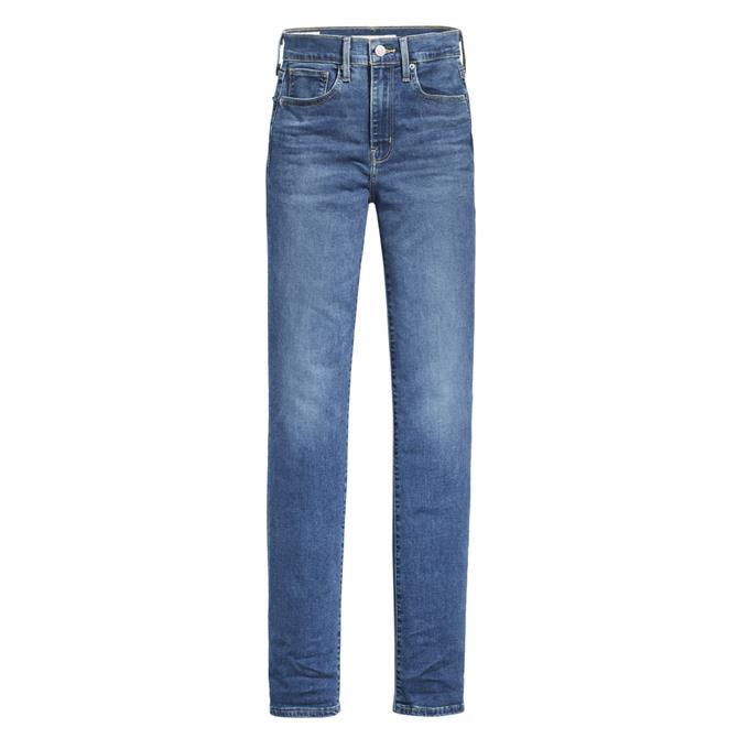 Levi's 724 High-Waisted Straight Jeans, Paris Storm