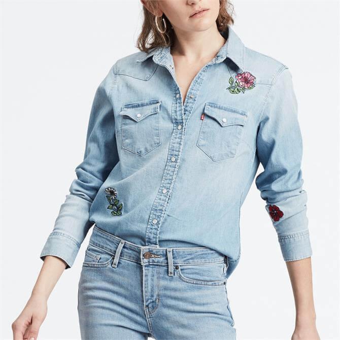 Levi's Ultimate Western Pretty In Blue Shirt