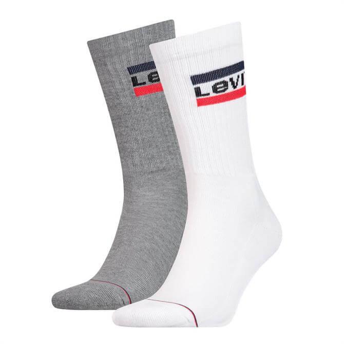 Levi's Regular Cut Sportswear Logo 2 Pack Socks