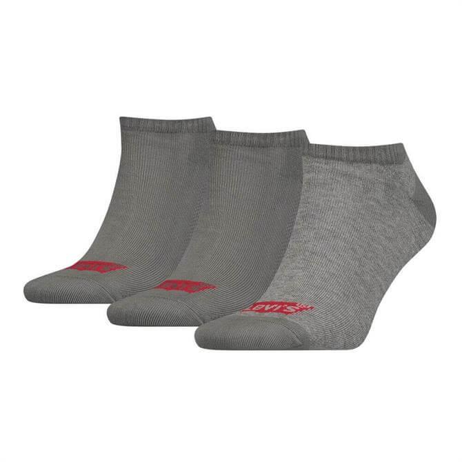 Levi's Grey Low Cut 3 Pack Batwing Logo Socks
