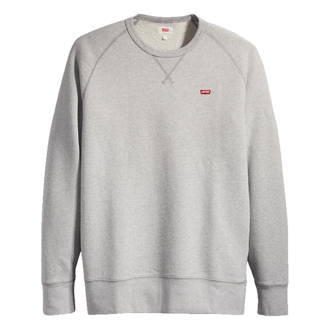 Levi's Original Housemark Icon Crewneck Sweater - Grey Heather