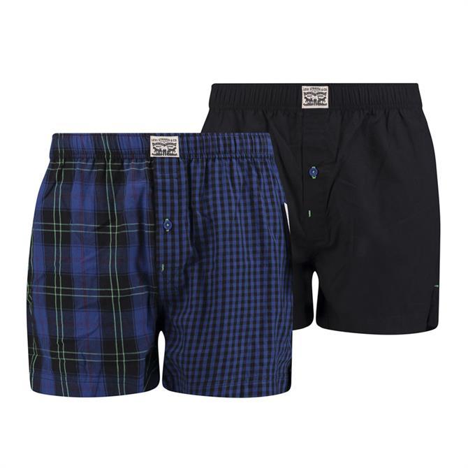 Levi's Tartan Woven Boxer Shorts 2-Pack