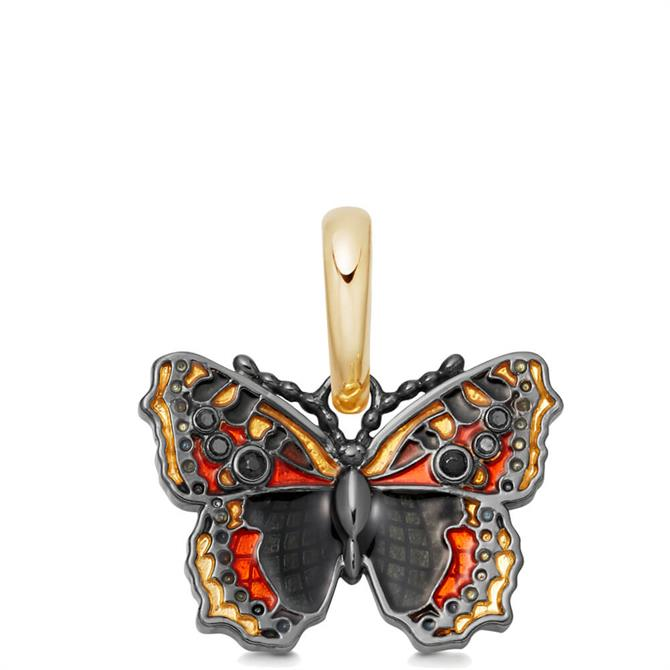Links of London 18kt Gold Vermeil & Enamel Small Tortoiseshell Butterfly Charm