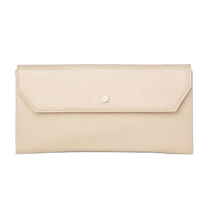 L.K. Bennett Dora Trench Leather Clutch Bag