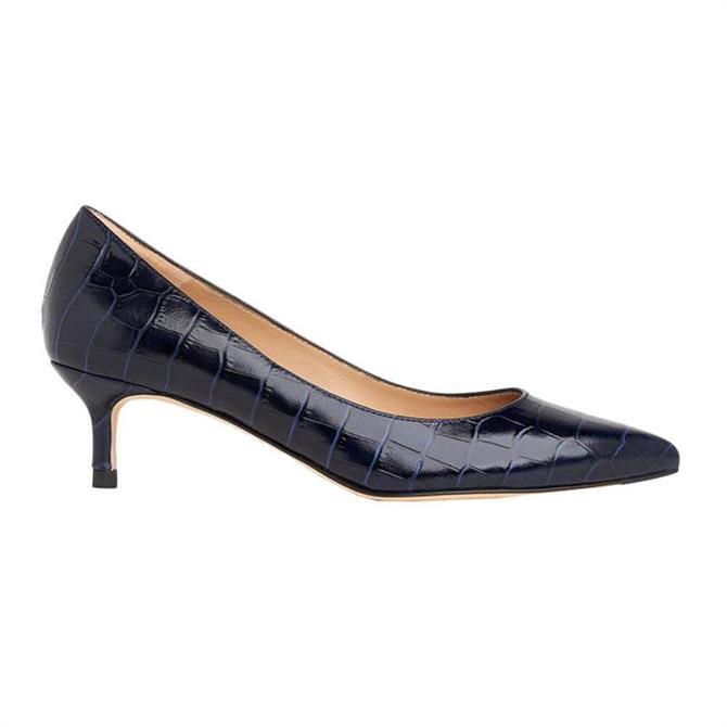 L.K. Bennett Audrey Croc-Effect Leather Courts