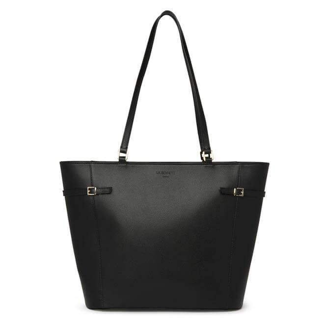 L.K. Bennett Liberty Black Saffiano Leather Tote Bag