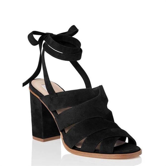 L.K. Bennett Seline Black Suede Formal Sandals