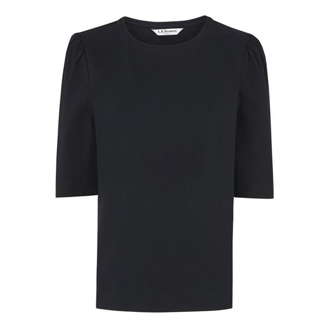 L.K. Bennett Saigon Ruched Sleeve T-Shirt