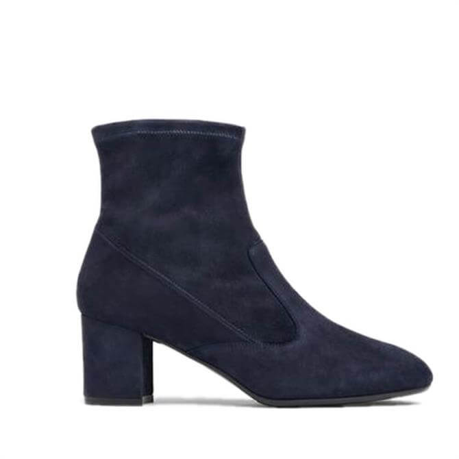 L.K. Bennett Alexis Navy Suede Ankle Boots