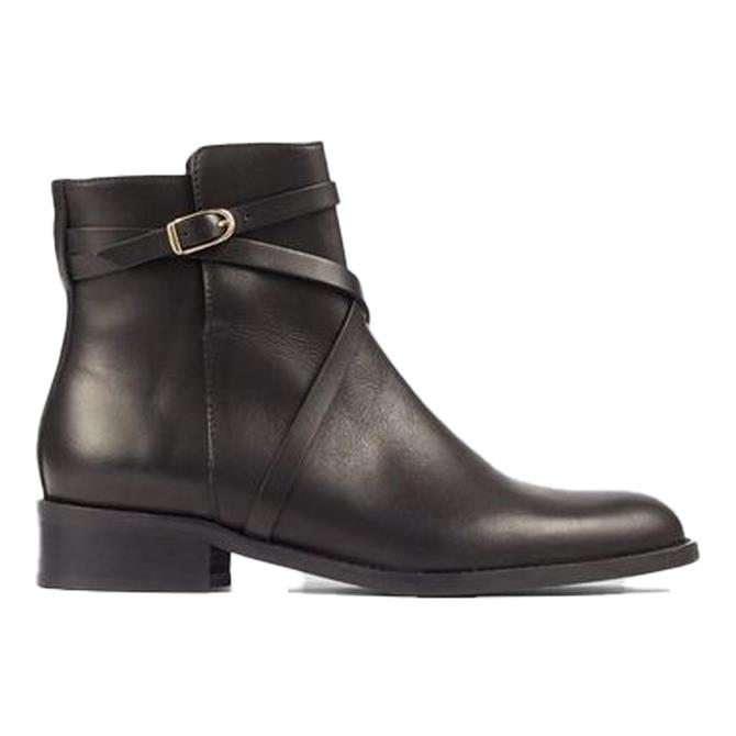 L.K. Bennett Anya Annie Flat Leather Ankle Boots