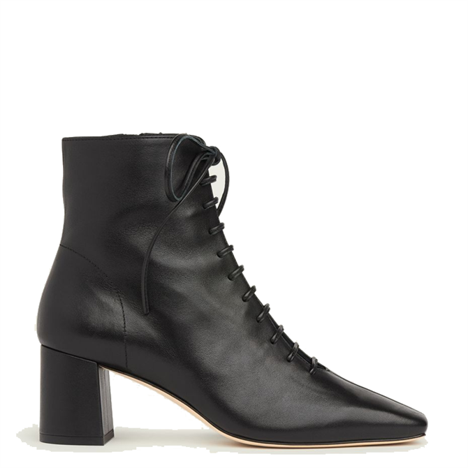 L.K. Bennett Arabella Leather Lace-Up Ankle Boots