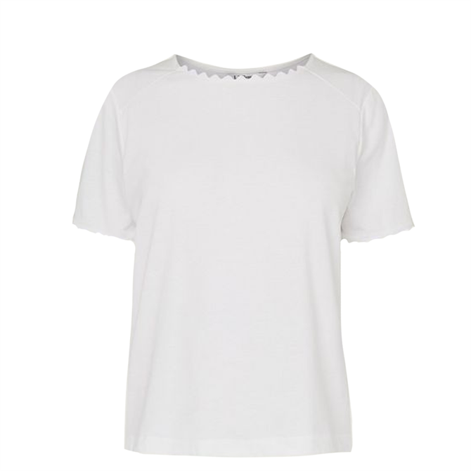 L.K.  Bennett Dee Jersey Ric Rac Trim T-Shirt