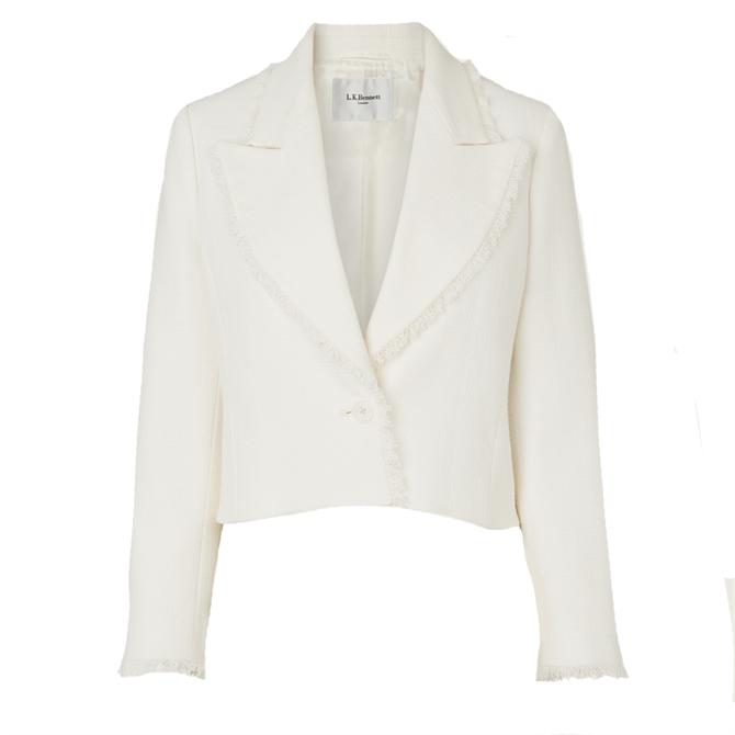 L.K. Bennett Ellen Cream Tweed Jacket