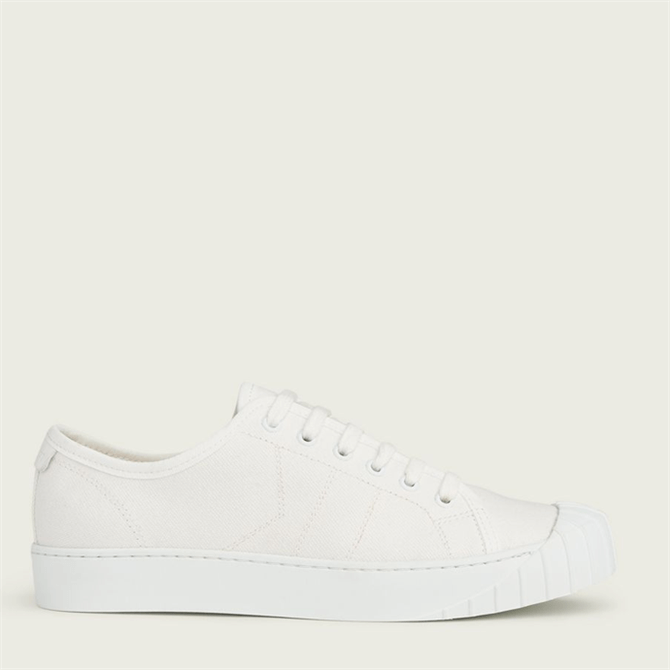 L.K. Bennett Esme White Recycled Cotton Trainers