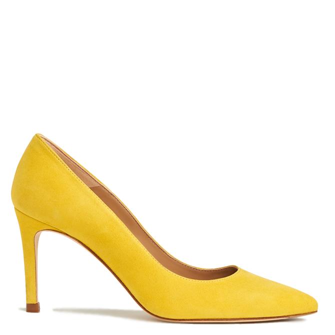 L.K. Bennett Floret Sherbet Yellow Suede Courts