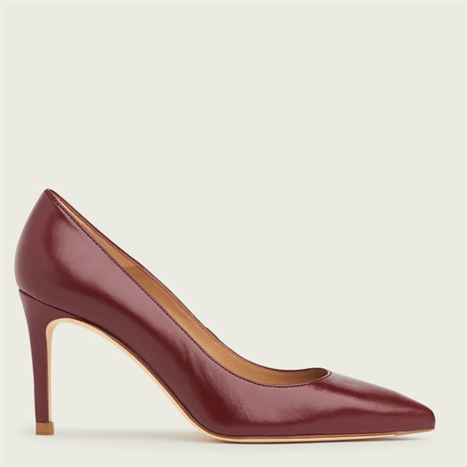 L.K. Bennett Floret Red Leathers Pointed Toe Courts