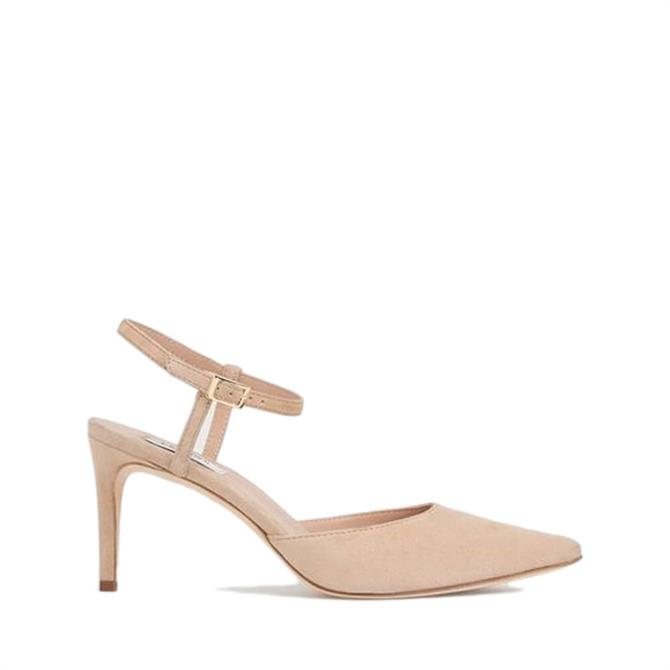 L.K. Bennett Hope Blue Suede Strappy Courts