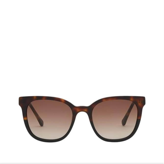 L.K. Bennett Iris Tortoiseshell Chunky Sunglasses