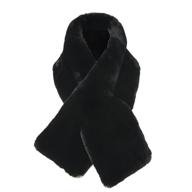 L.K. Bennett Jodie Black Faux Fur Scarf