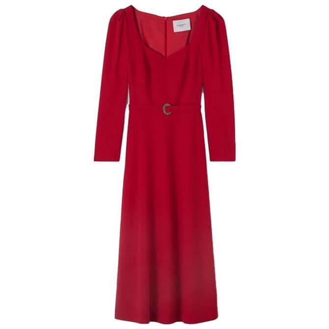 L.K. Bennett Katerina Crepe Belted Dress