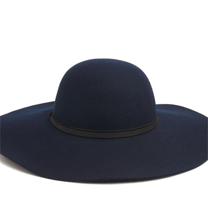L.K. Bennett Kendall Navy Fabric Hat