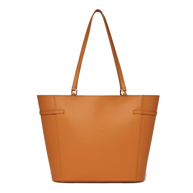 L.K. Bennett Liberty Tan Saffiano Leather Tote Bag
