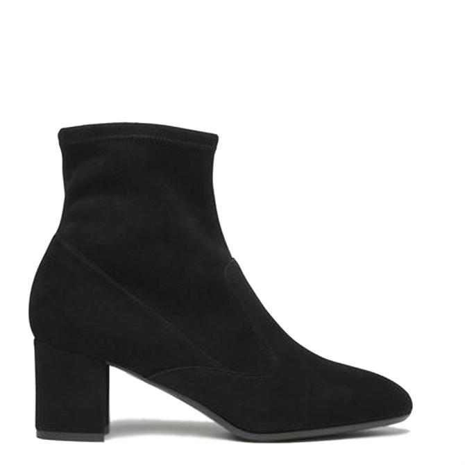 L.K. Bennett Alexis Black Suede Ankle Boots