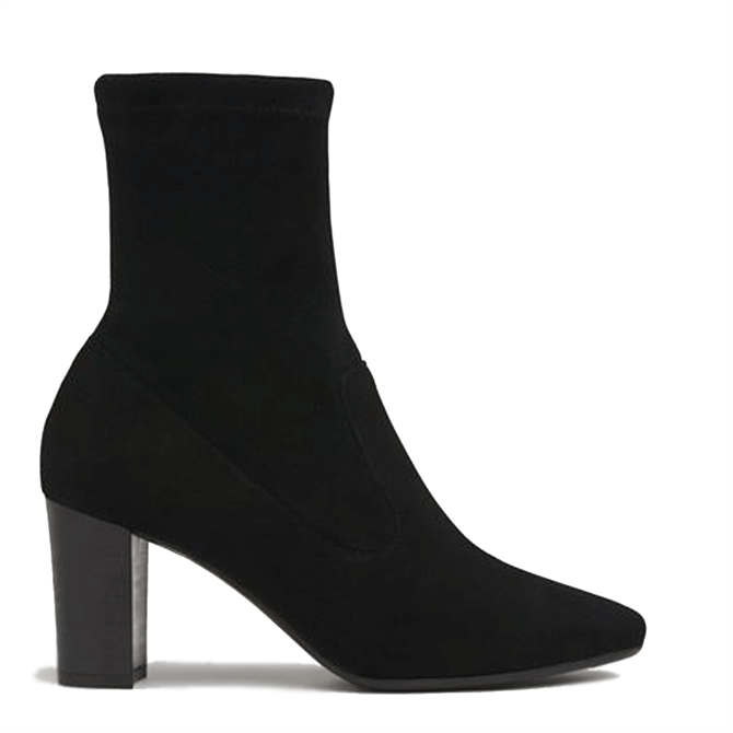 L.K. Bennett Alice Black Stretch Suede Ankle Boots