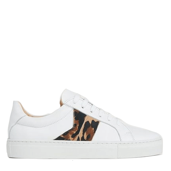 L.K. Bennett Alivia Natural Lace Up Trainers