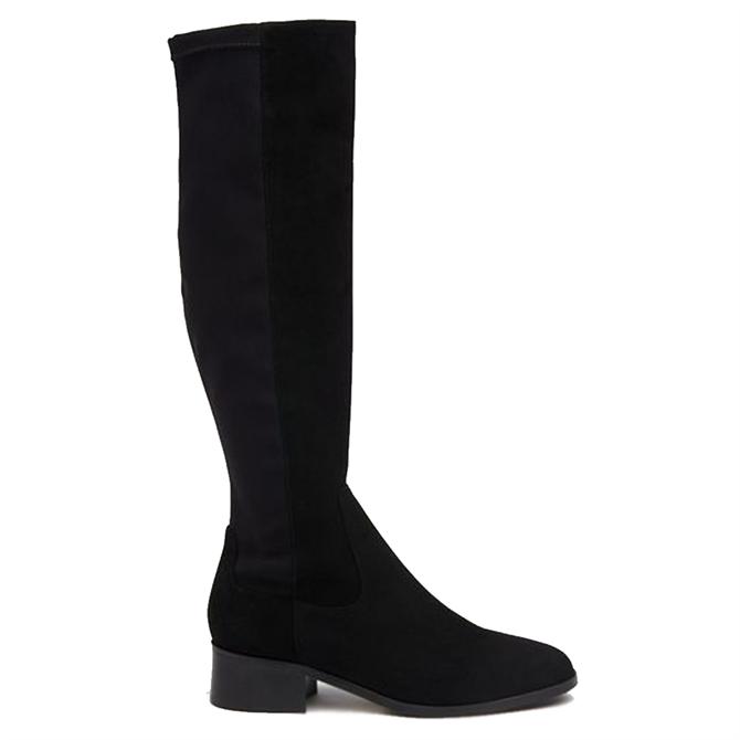 L.K. Bennett Bella Black Suede Knee Boots